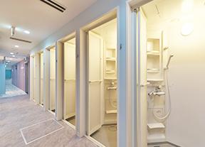 カルドのシャワー室